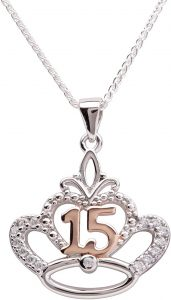 15th birthday sterling silver necklace