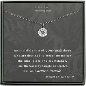 Meaning I will get lost without you Sterling Silver Necklace