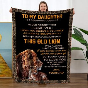 Personalized To My Daughter Throw Blanket Custom Name Fleece Blanket Funny