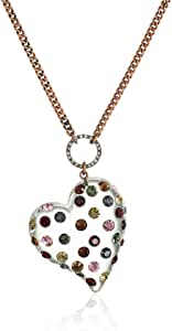 Symbolic heart pendant necklace set with I love you