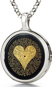 The love necklace says I love you in 120 languages