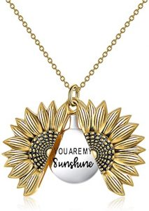You are a sunshine sunflower necklace